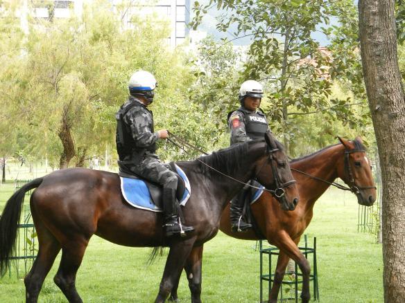 Police presence - Parque La Carolina