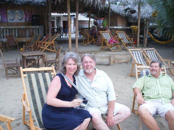 Karen & Tom Wine with Joe at Jimmy's Malecon Lopez