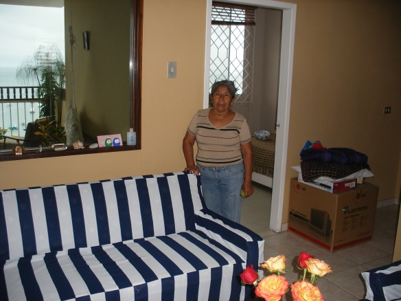 Paquita and the new couch cover