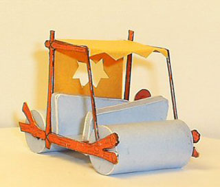 fred-flintstone-car-papercraft-1