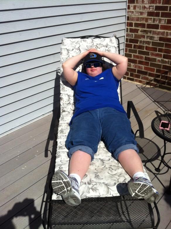 Lori Ann catching some rays 2012